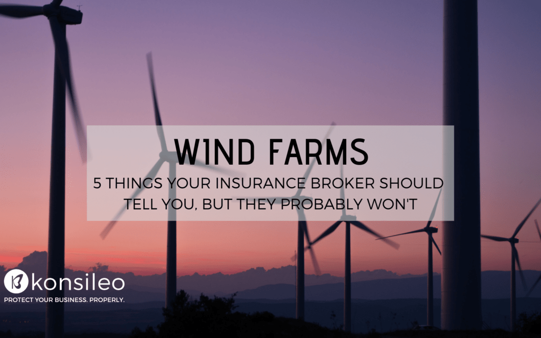 Wind farms business insurance tips